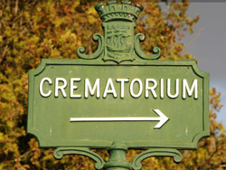 Repatriation crematorium ashes