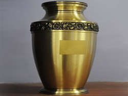 Repatriation urn ashes